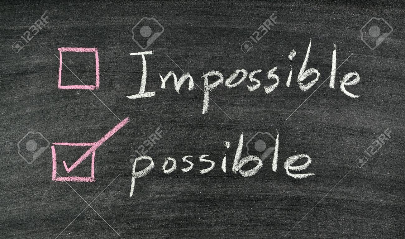 tick possible written board blackboard Stock Photo - 17926026