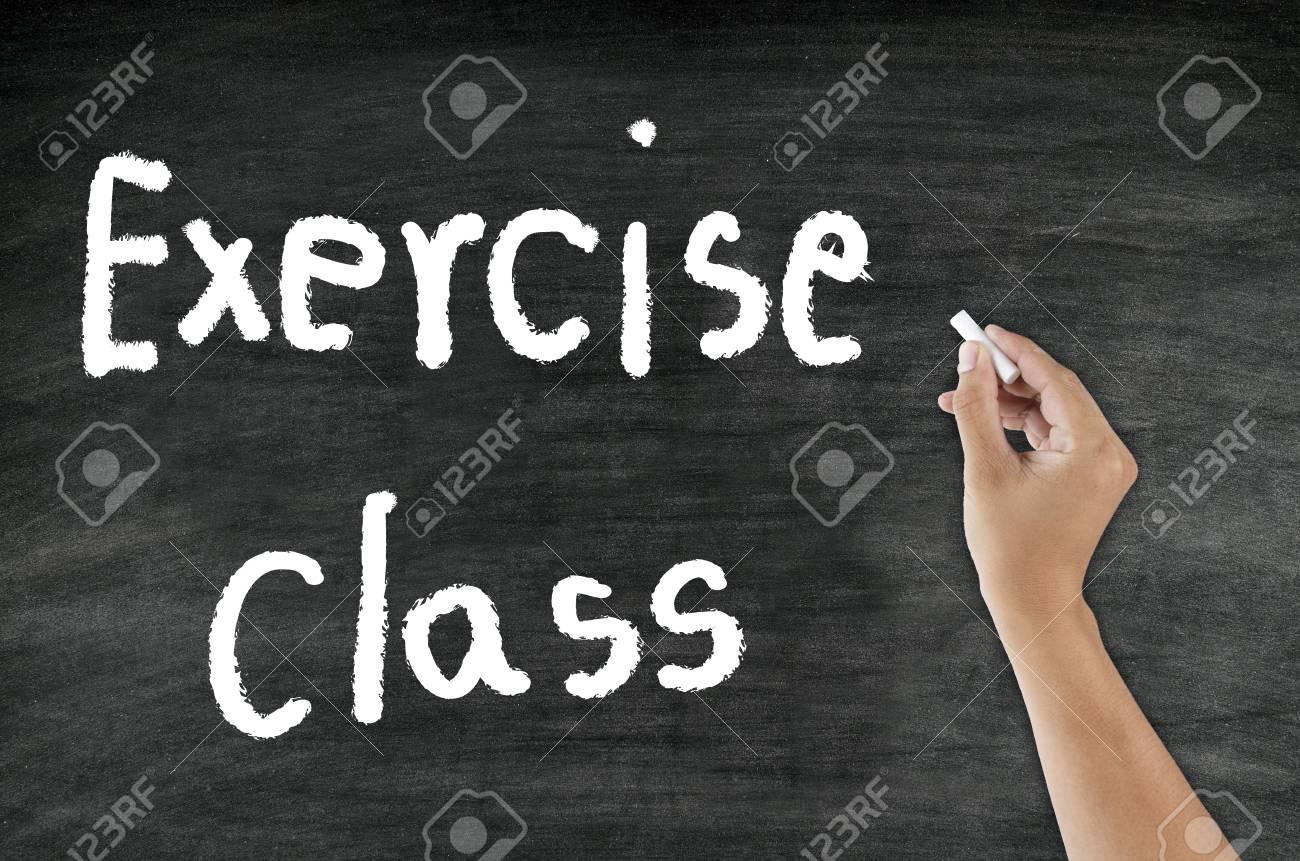 Criture A La Main De Classe D Exercice A La Craie Sur Le Tableau Noir Banque D Images Et Photos Libres De Droits Image 34036378