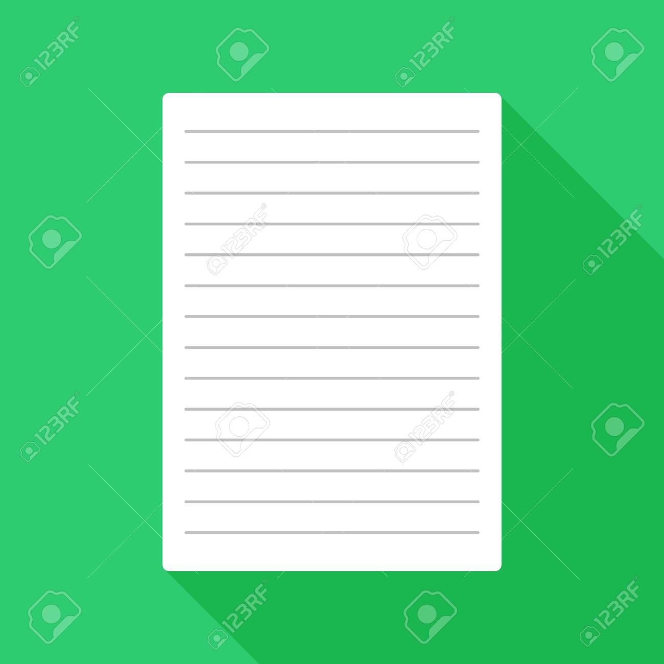 Paper flat icon - 124395622