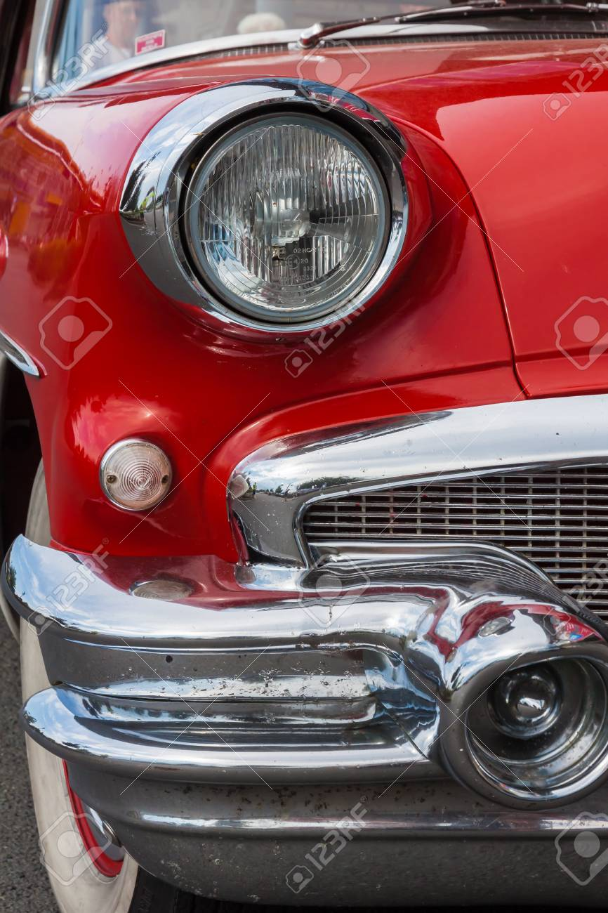 Red 1956 Buick Special front with headlamp - 136834153