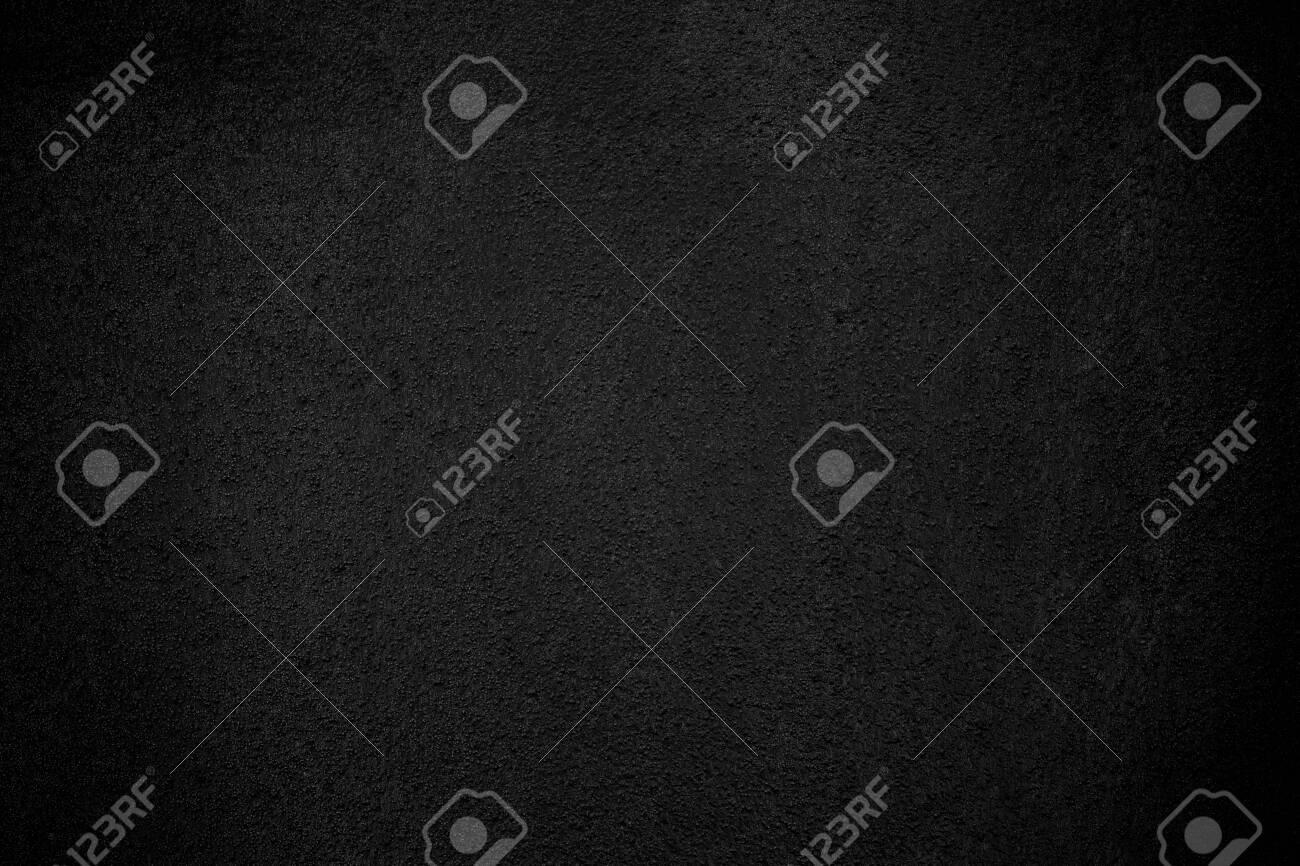 Black wall texture pattern rough background. Old black grunge background. Dark wallpaper copy space for design. - 128060717