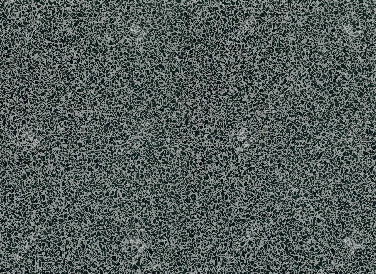 Black And Grey Mottled Terrazzo Floor Tile Surface Texture Background