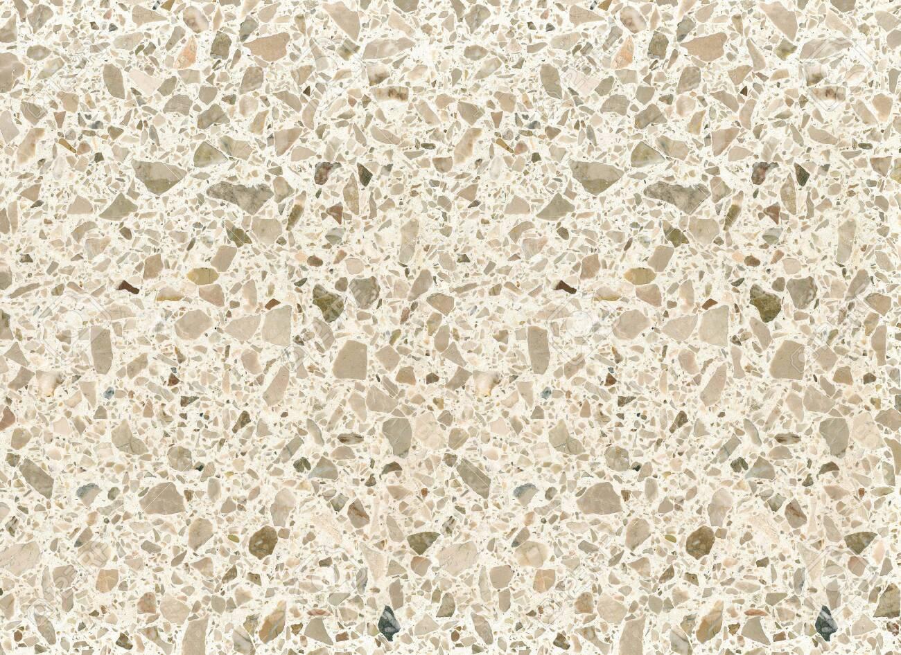 Beige Mottled Terrazzo Floor Tile Surface Texture Background