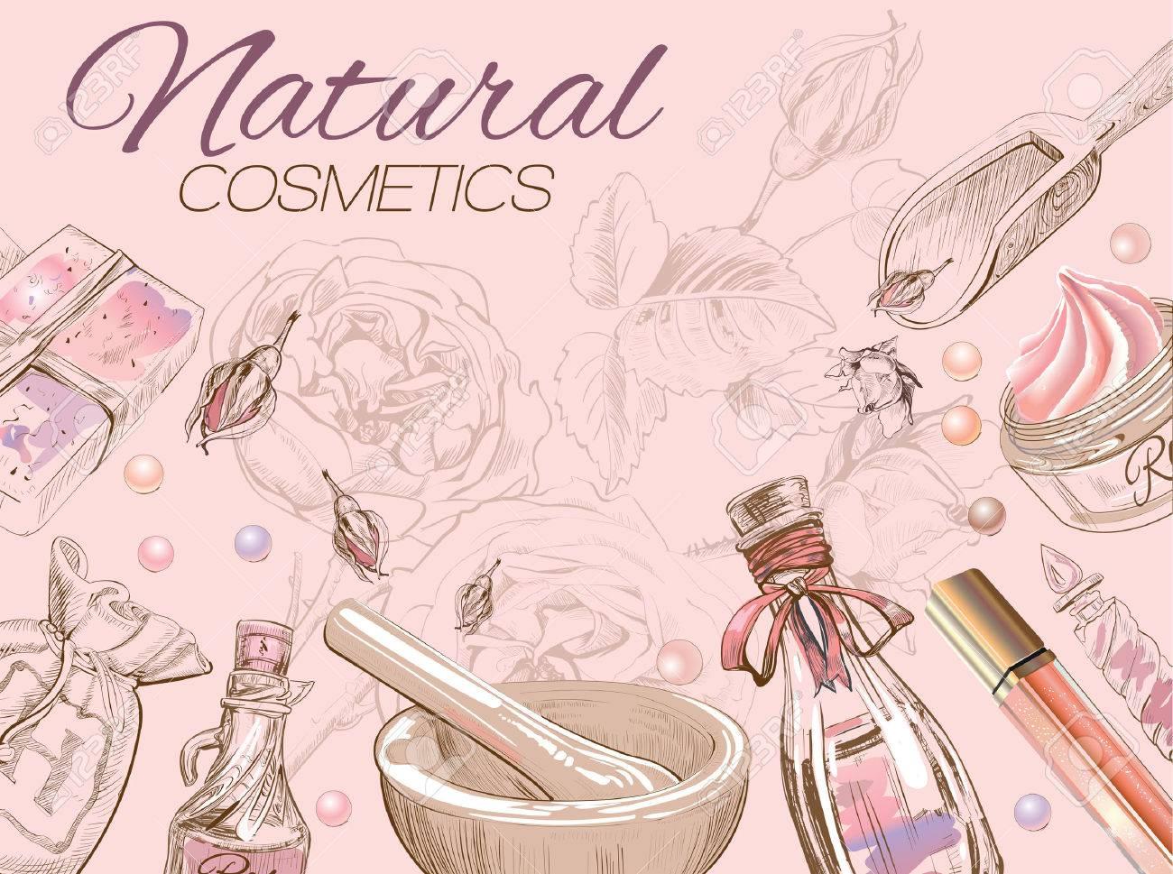 Rose natural cosmetic card. - 52577884