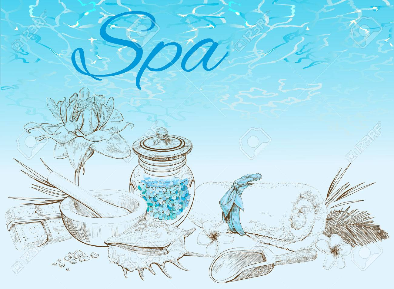 Spa Treatment Banner On Graphic Background Design For Cosmetics Royalty Free Cliparts Vectors And Stock Illustration Image 59100771