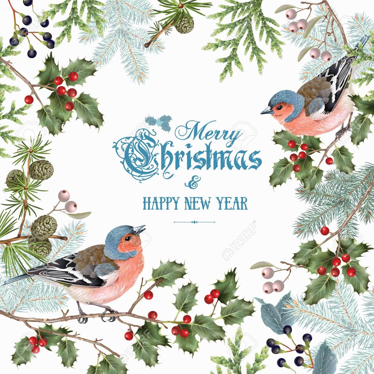 Bird christmas big frame - 88597979
