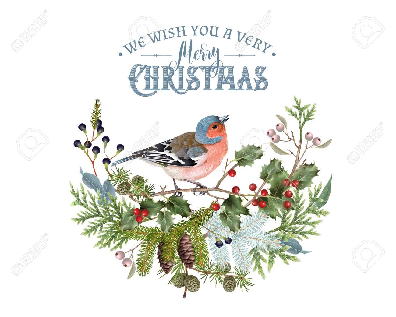 Bird winter composition - 89454246