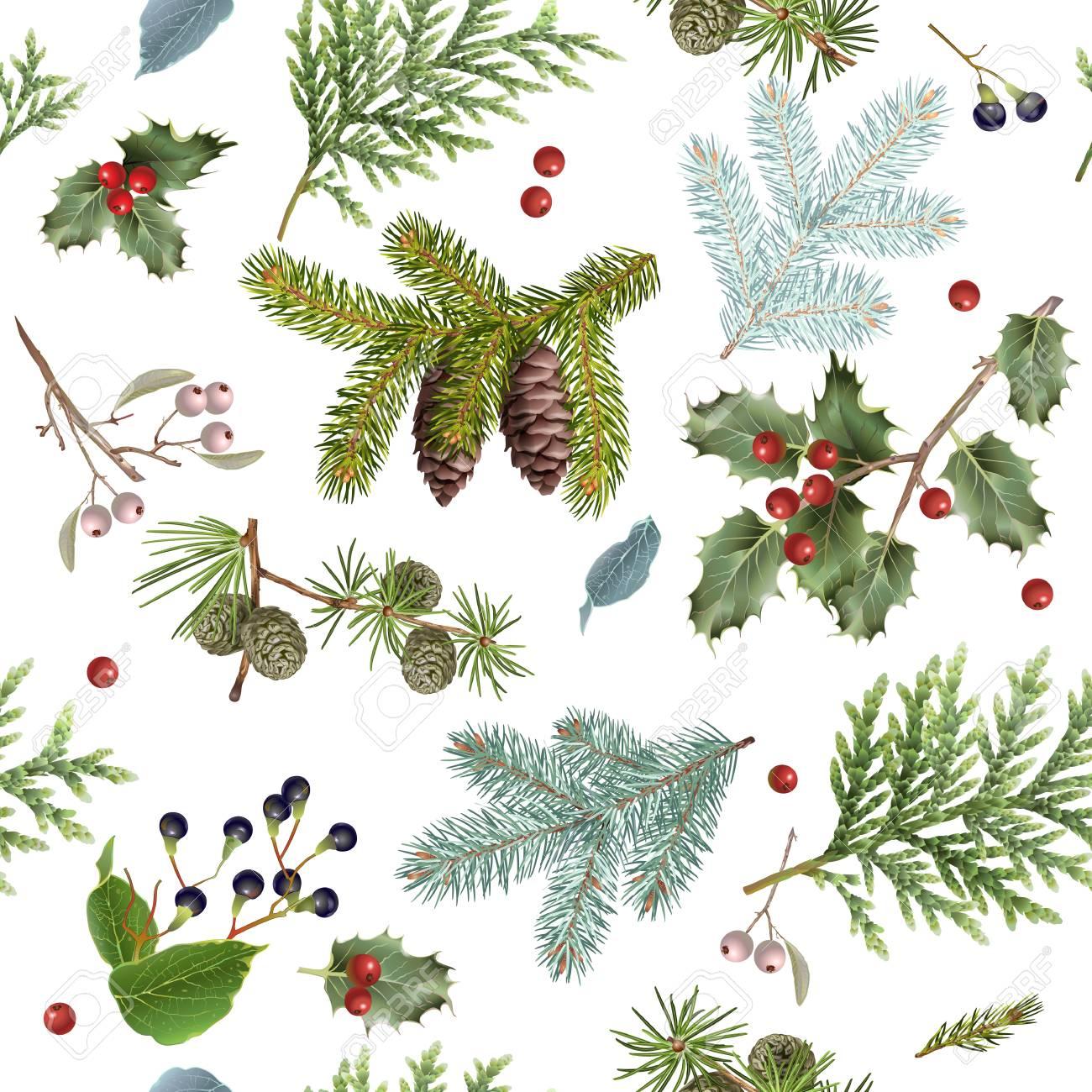 Branch Christmas pattern - 89671596