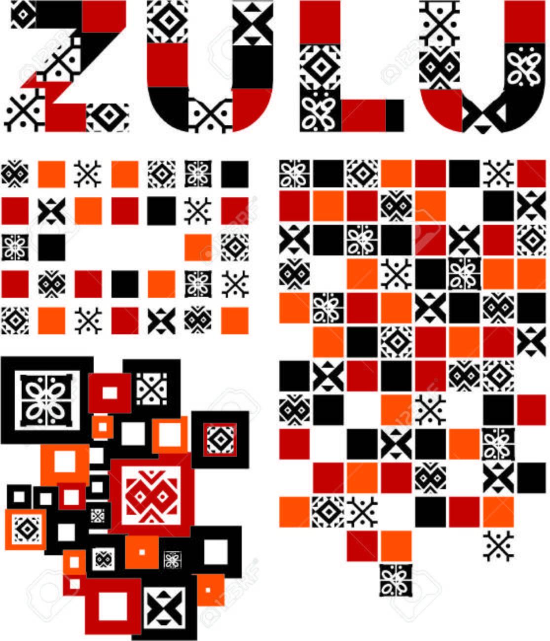 zulu pattern set Stock Vector - 8956764