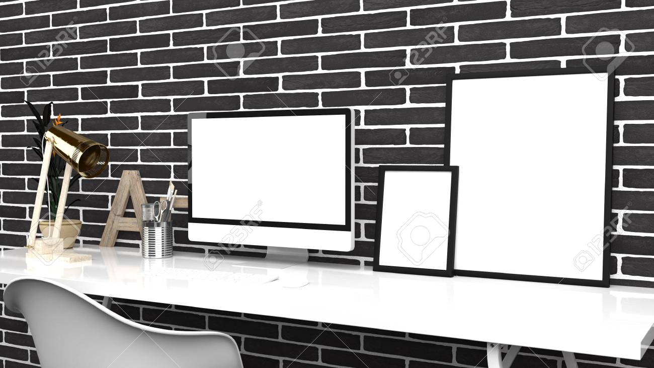 Creative Home Office, Modern Studio Or Contemporary Workspace ...