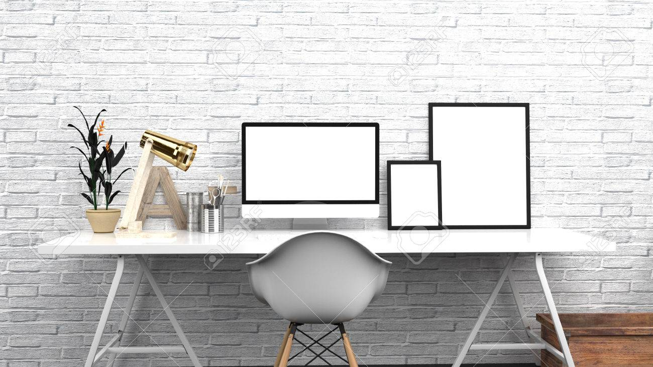 Home office créatif studio moderne ou espace de travail