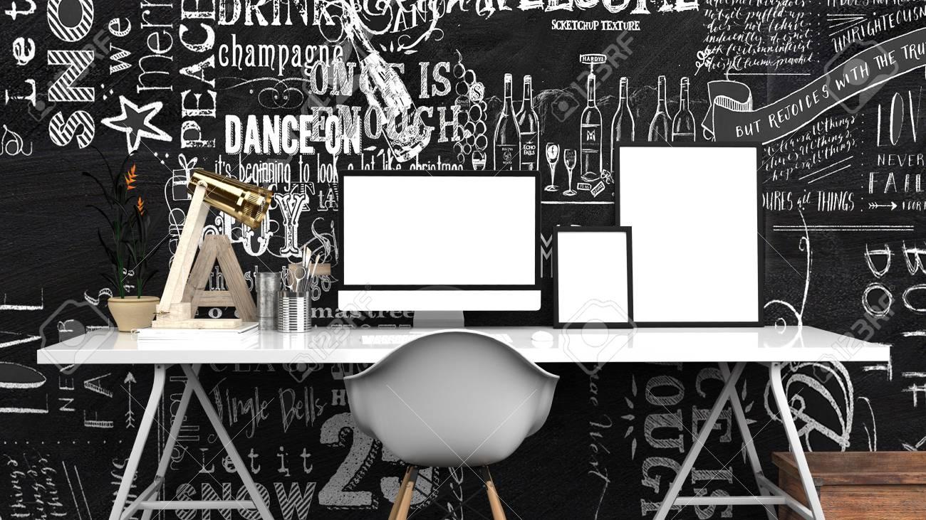 Creative Home Office, Modern Studio Oder Zeitgenössischen ...