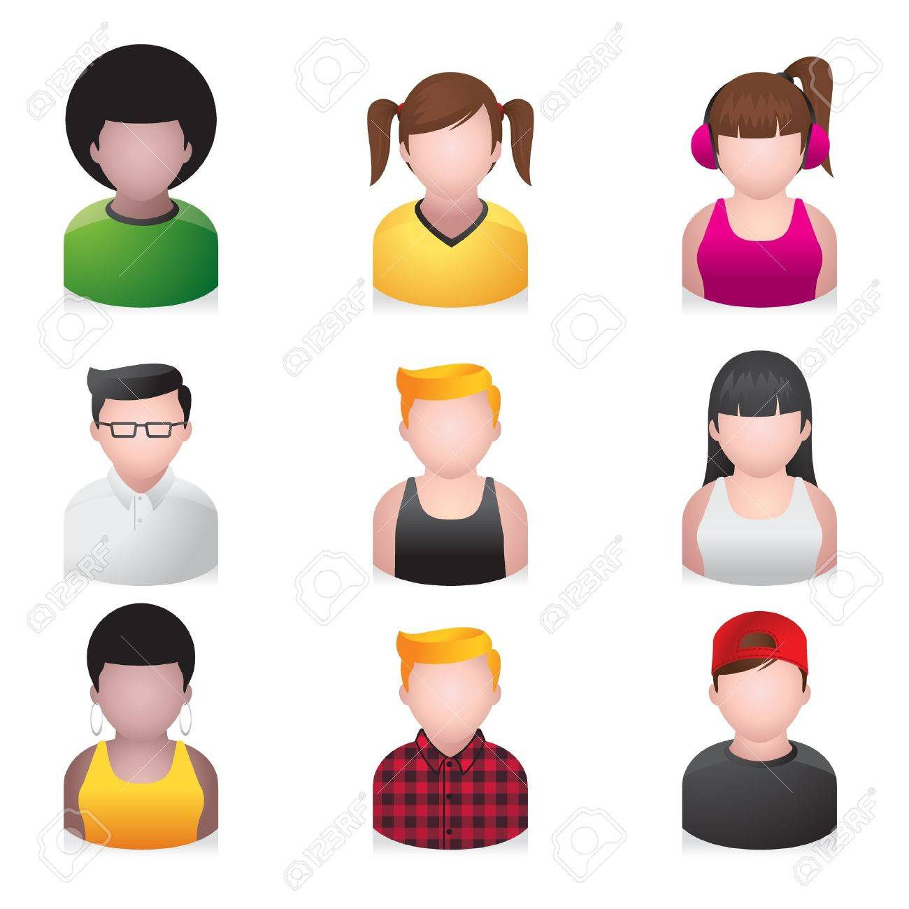 People Icons - Youngster Stock Vector - 10414691