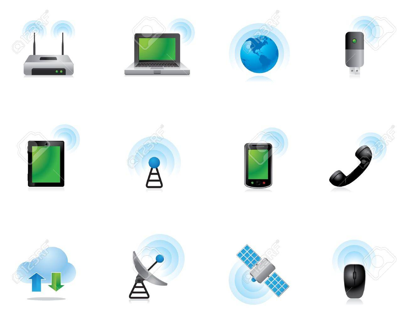 Web Icons - Wireless World Stock Vector - 10414787
