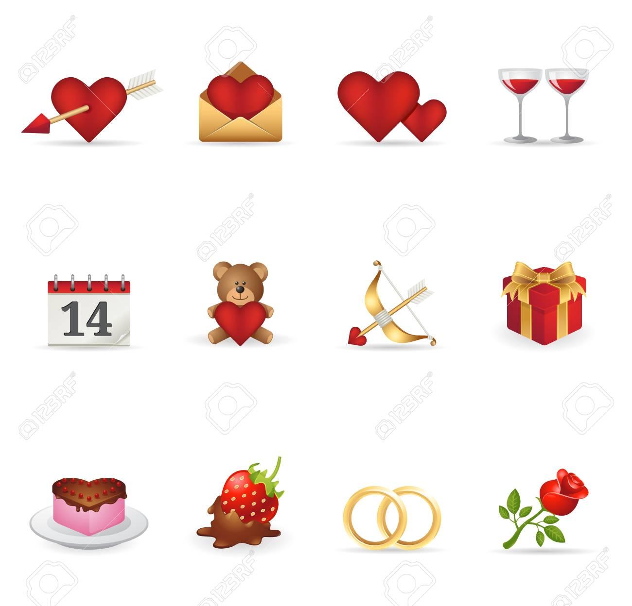 Web Icons - Love Stock Vector - 12495545