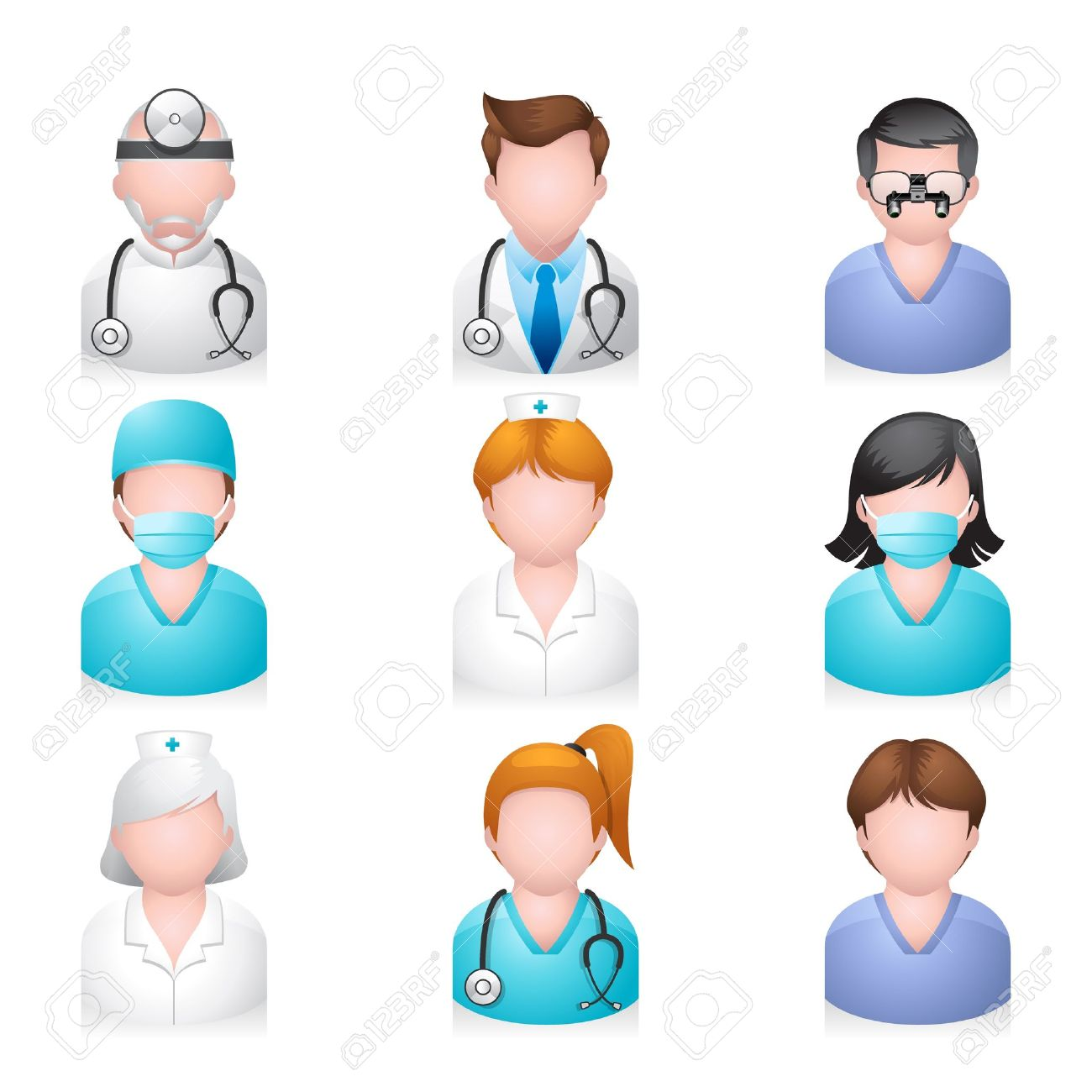 Medical people icon set - 13650399