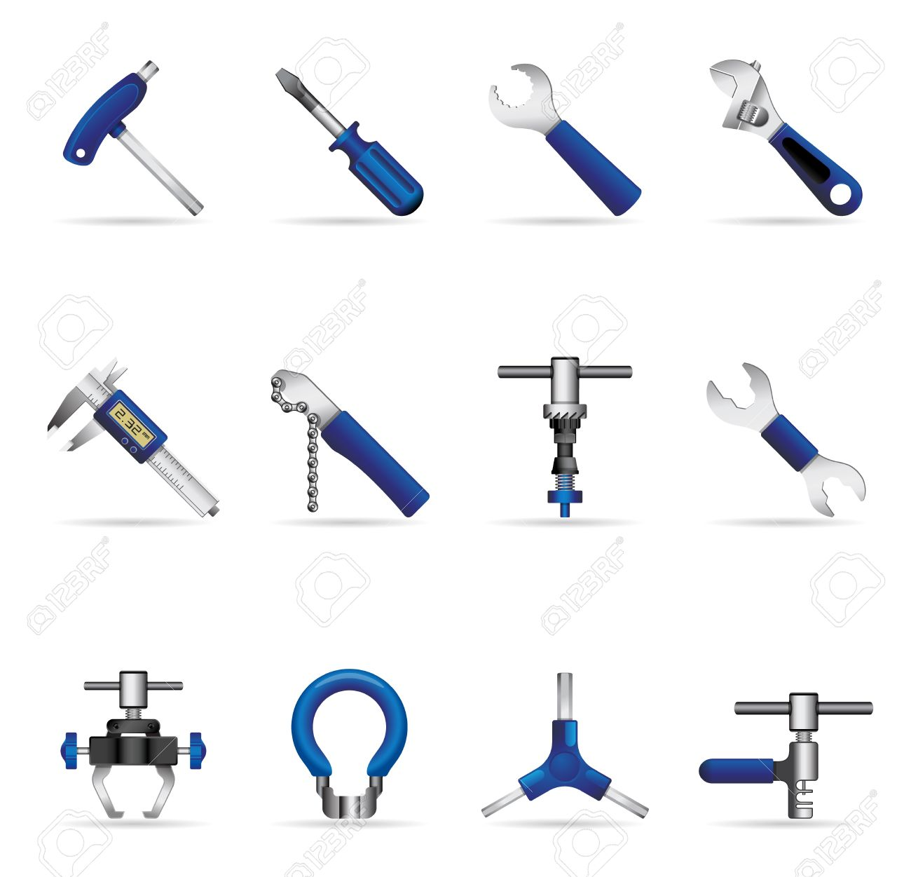 Bicycle tools icon set Stock Vector - 13650423