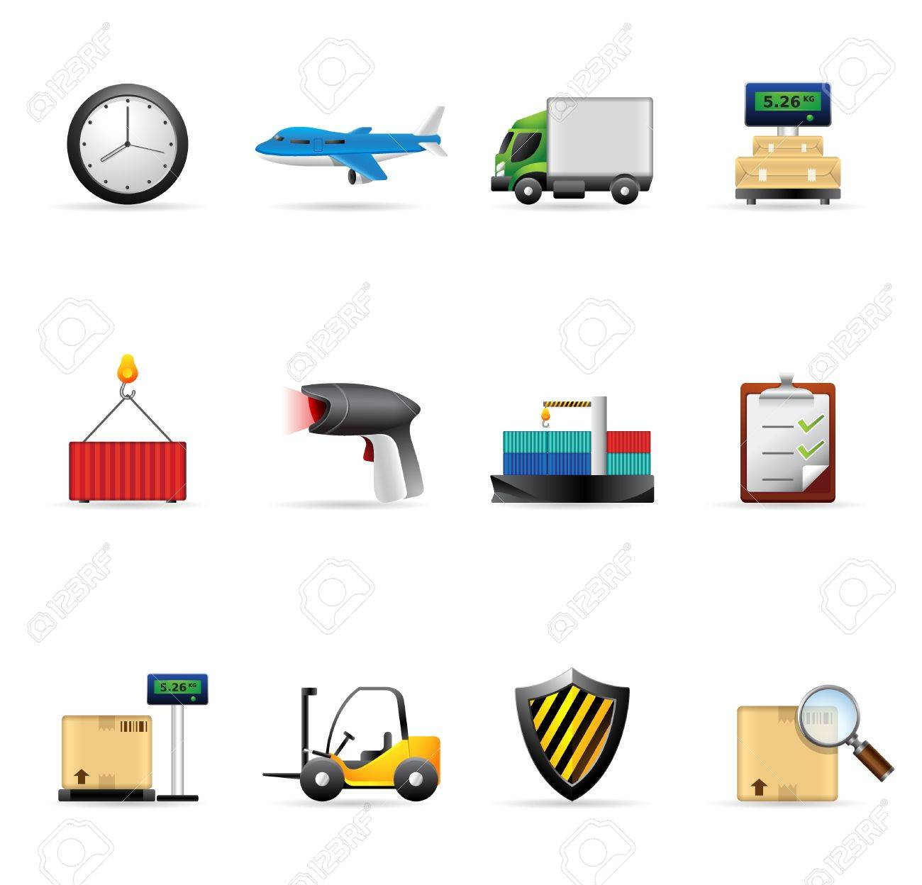 Logistics Icon Vector Free Download
