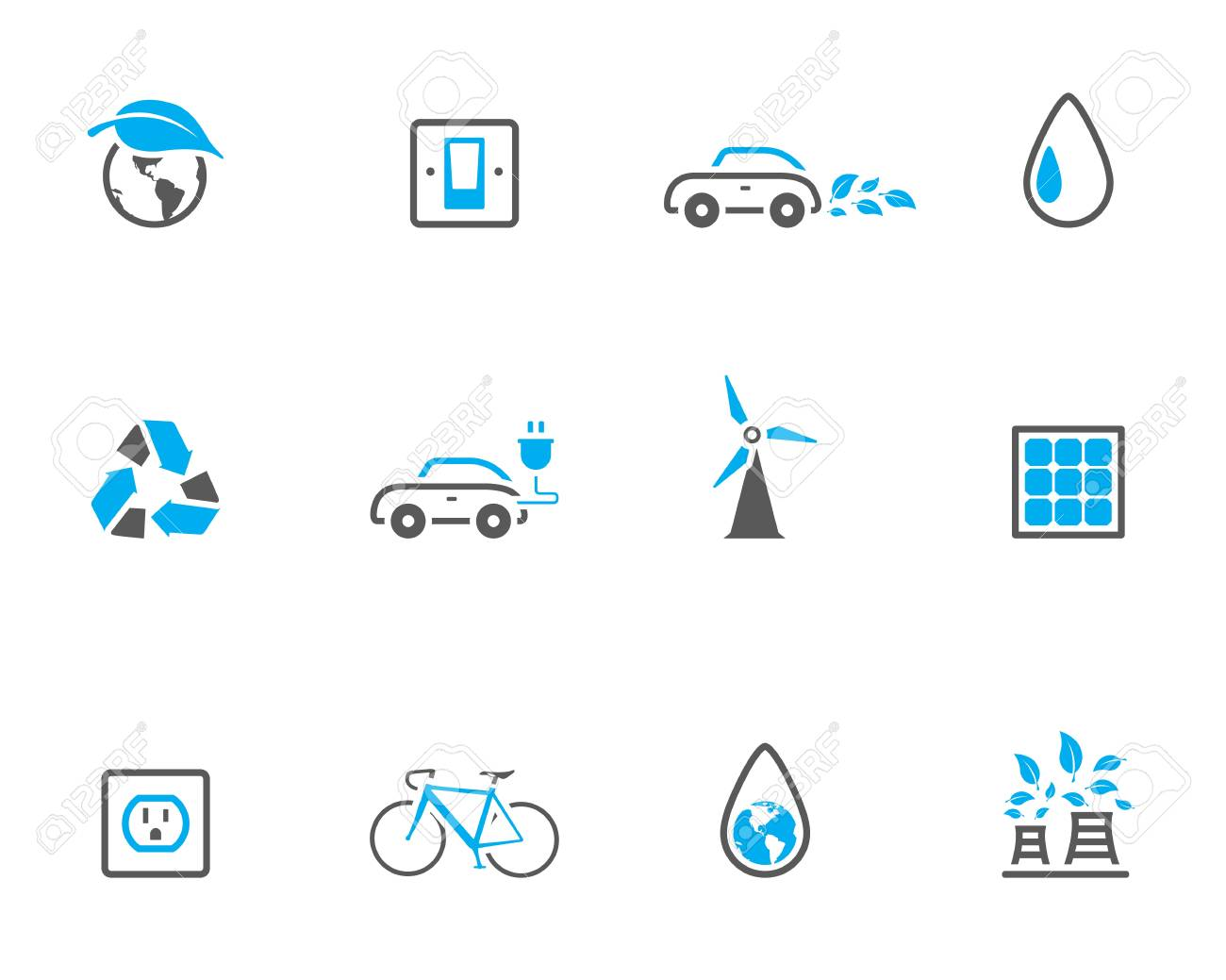 &quot,Environment  icon series in duotone color style. Stock Vector - 17232526
