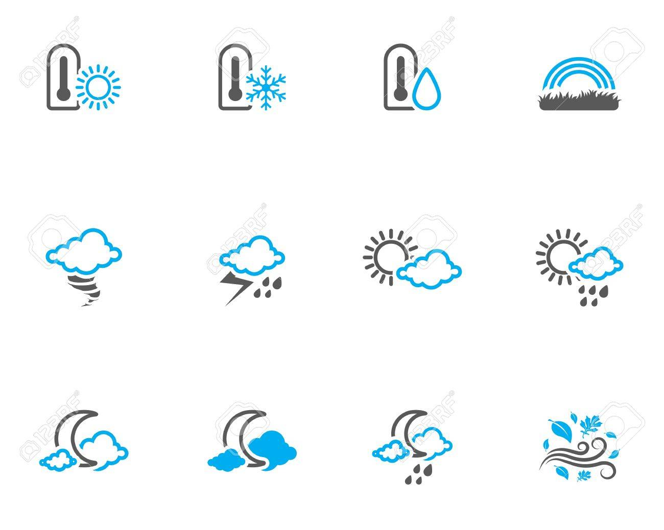 More weather icon series in duo tone color style. Stock Vector - 17233962