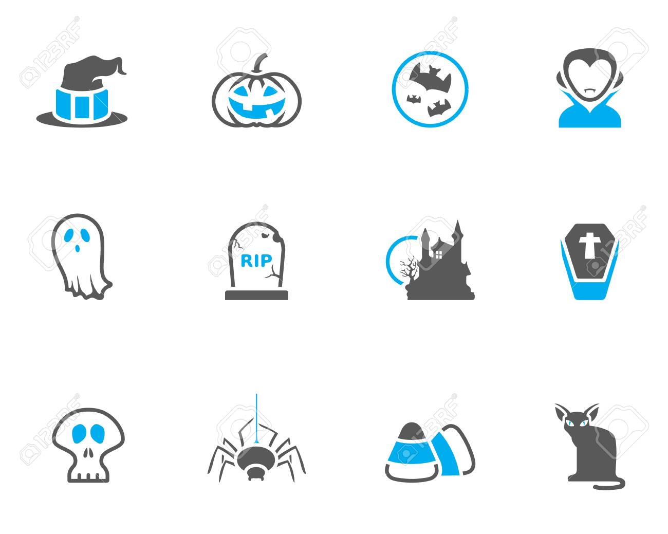 Halloween icon series in duo tone colors Stock Vector - 19605564