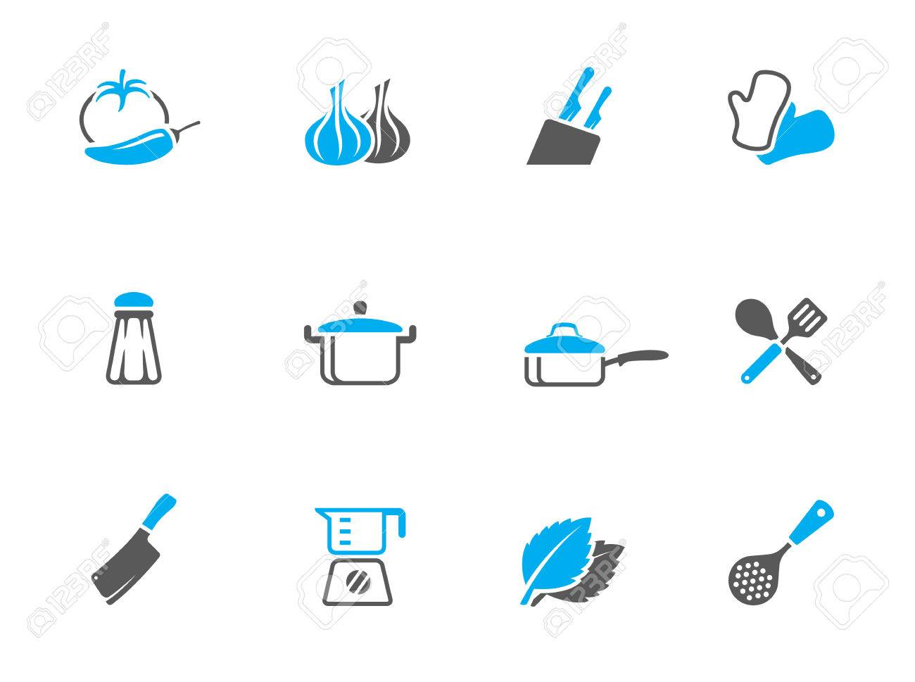 Cooking icons in duo tone colors. EPS 10. Stock Vector - 23775128