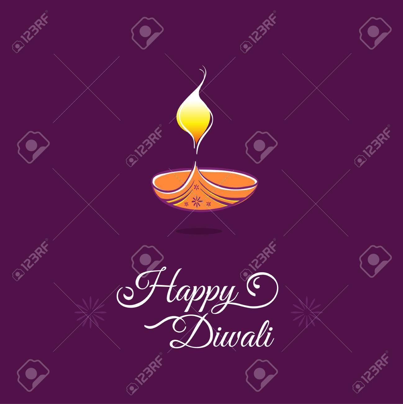 Happy Deepavali Indian Festival Lights Stock Vector