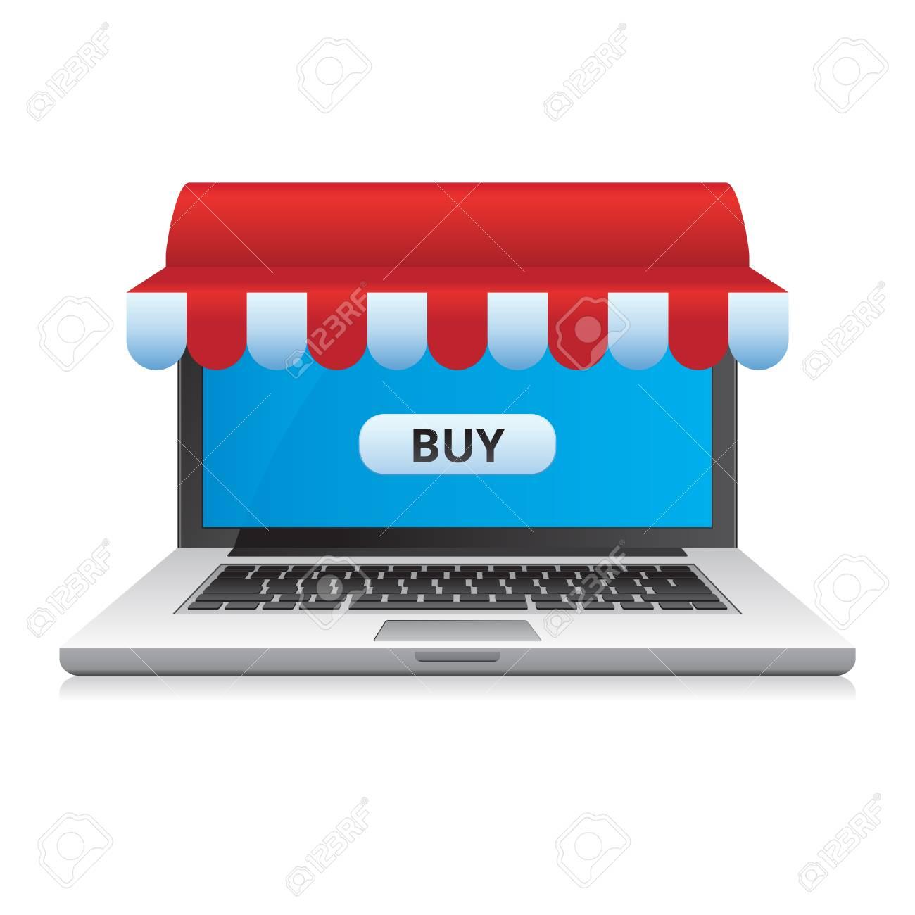Tiendas De Ordenadores Online.Ordenador Portatil Con Toldo Cinta Roja Y Blanca Tienda Online