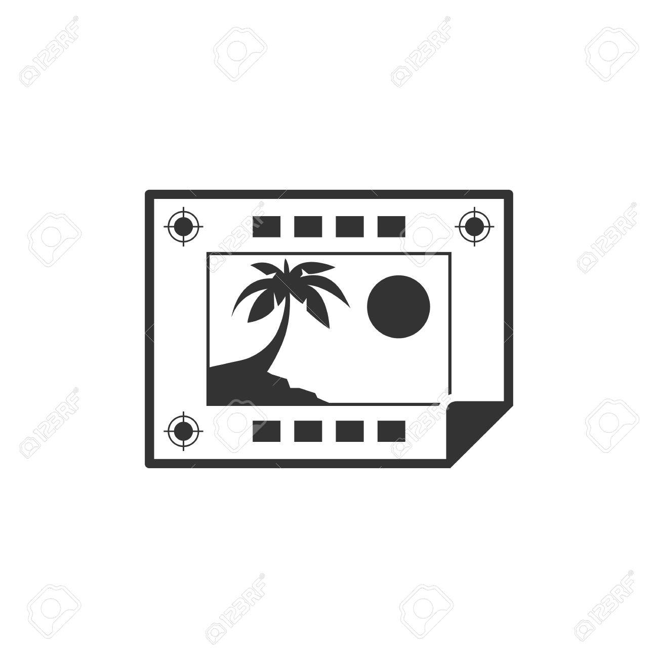 Print Proof Icon In Single Grey Color Paper Registration Marks Cropmarks Press Publishing Stock Vector