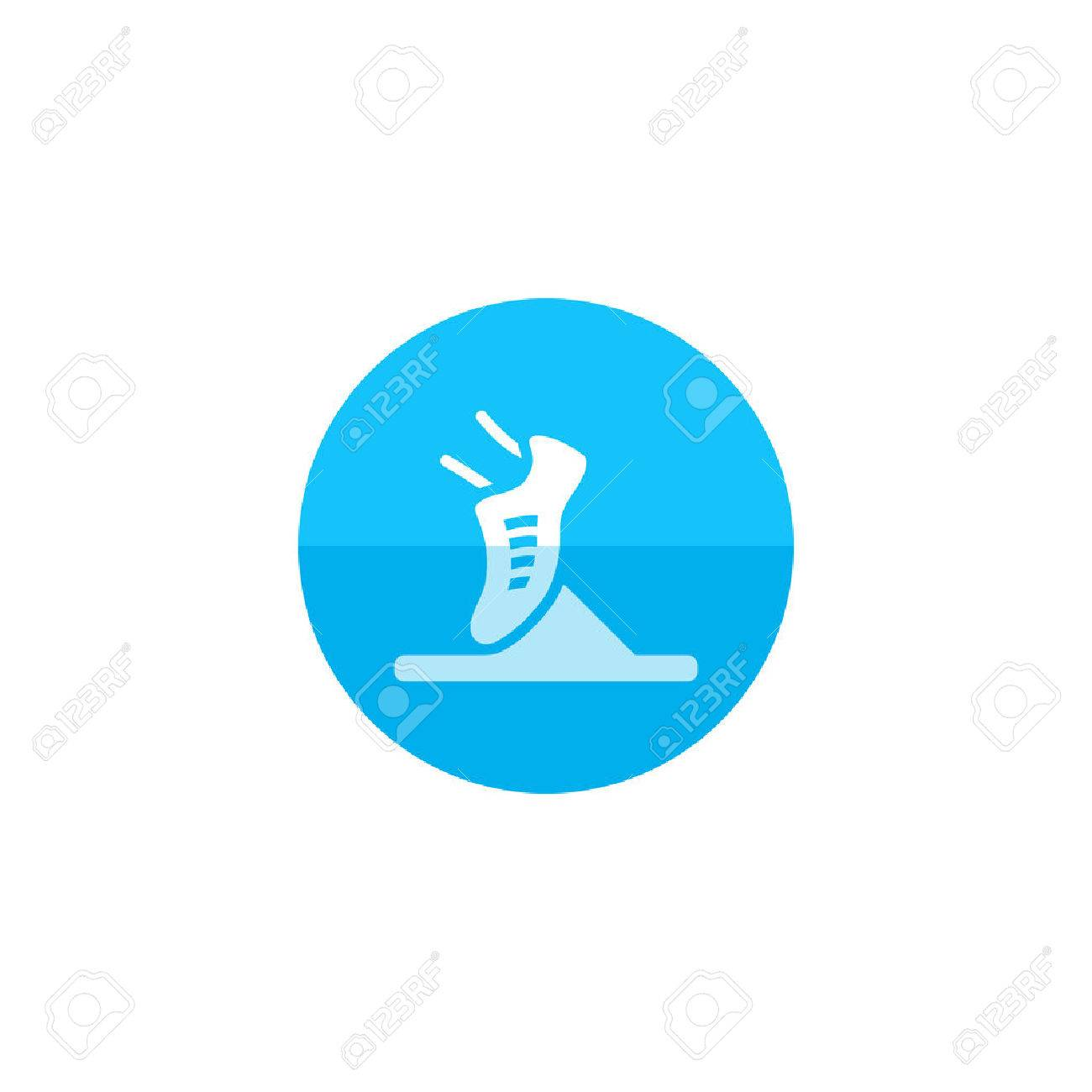 Starting Block Icon In Flat Color Circle Style Sport Sprint