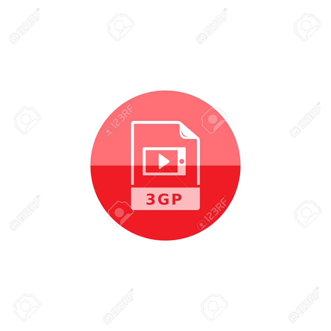 Video file format icon in flat color circle style  Computer