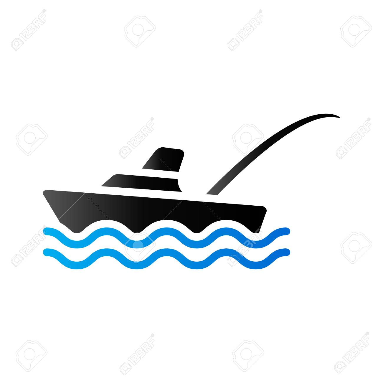 Fishing Boat Icon In Duo Tone Color Sport Recreation Ship Transport Royalty Free Cliparts Vectors And Stock Illustration Image 71631647