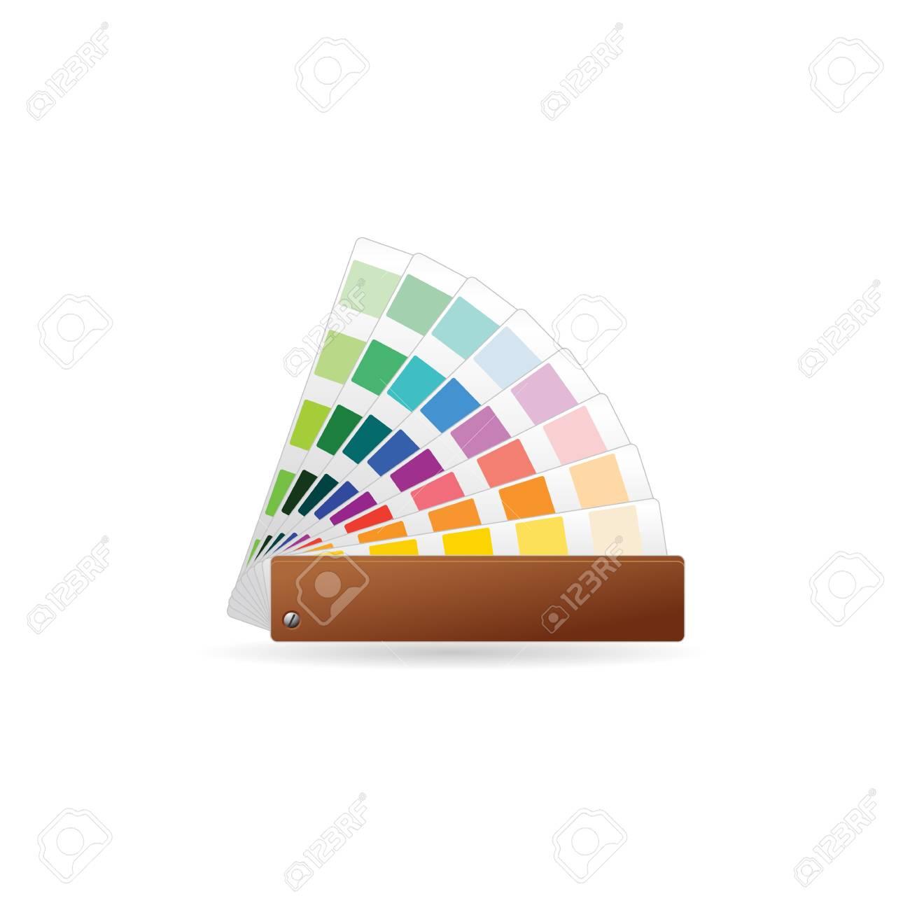 Icono De Muestras De Color En Color. Impresión De Libro De ...