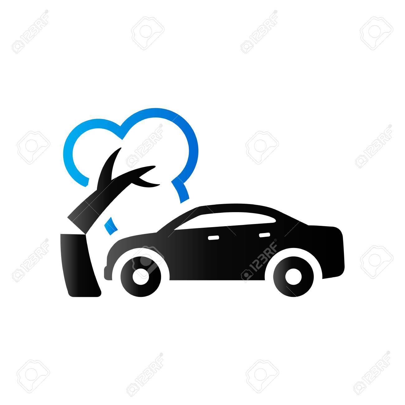 Icono Accidente De Coche En El Color De Tono Del Dúo. Incidente ...
