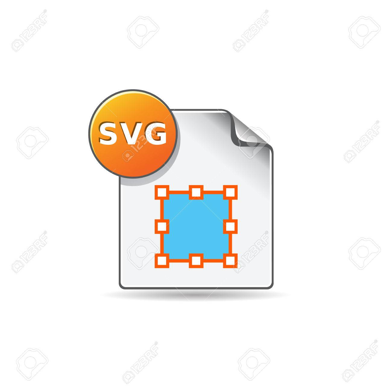 SVG file icon in color. Computer software drawing scalable Stock Vector - 71632717