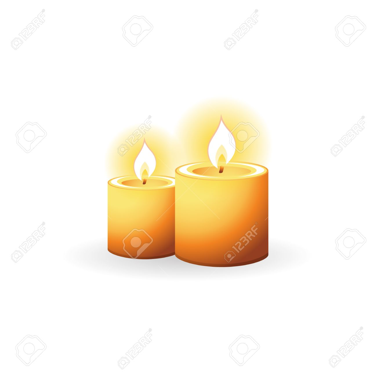 Candles Icon In Color. Light Memorial Fire Royalty Free Cliparts ... for memorial candle clip art  565ane