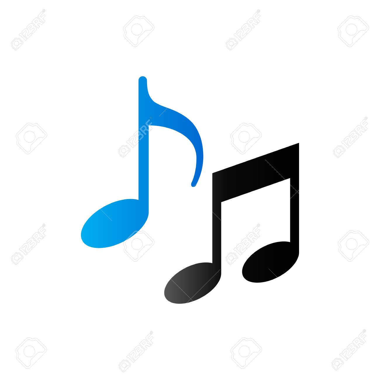 Music notes icon in duo tone color musical crotchets quaver music notes icon in duo tone color musical crotchets quaver stock vector 71633337 buycottarizona