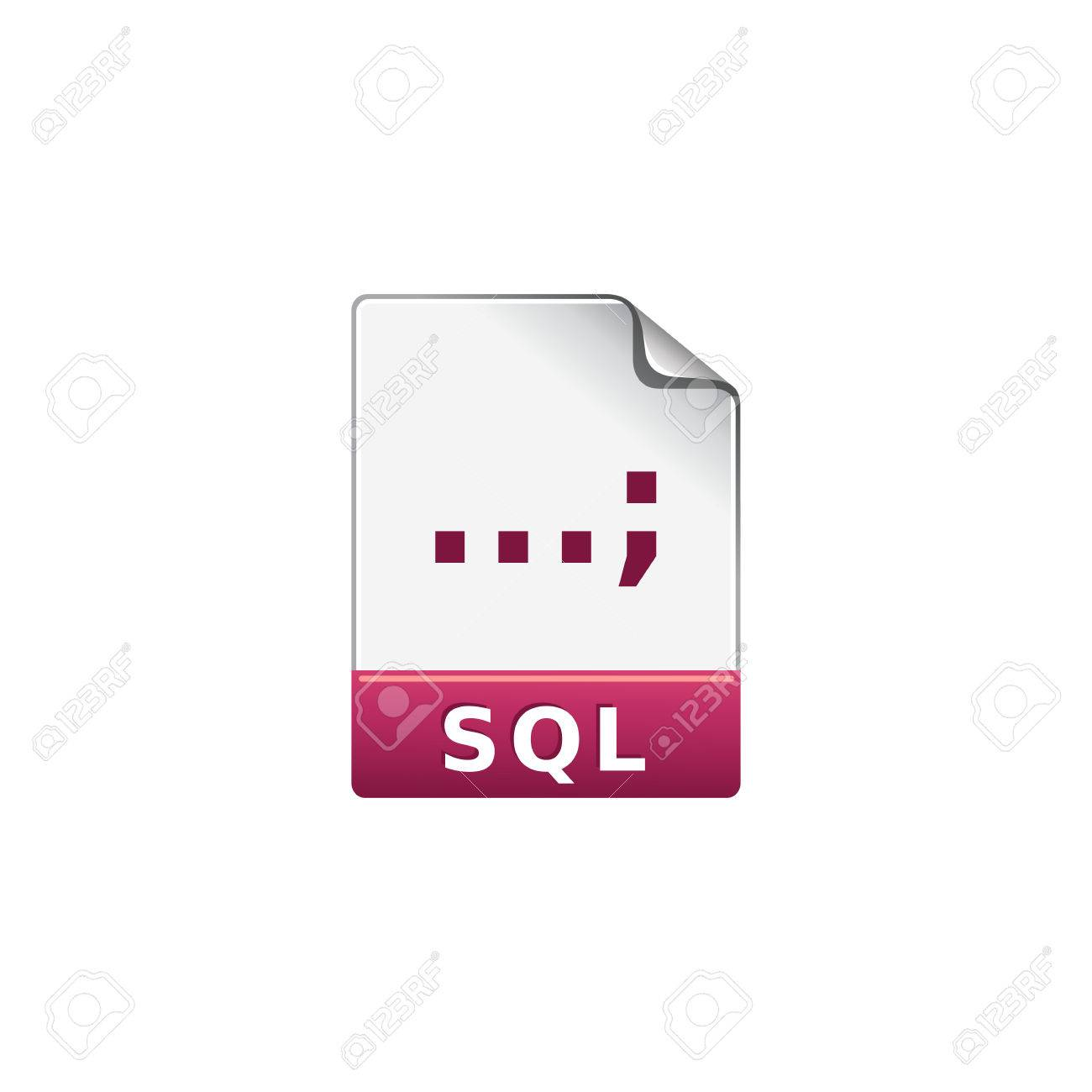 Sql File Format Icon In Color Extension Database Queries Royalty