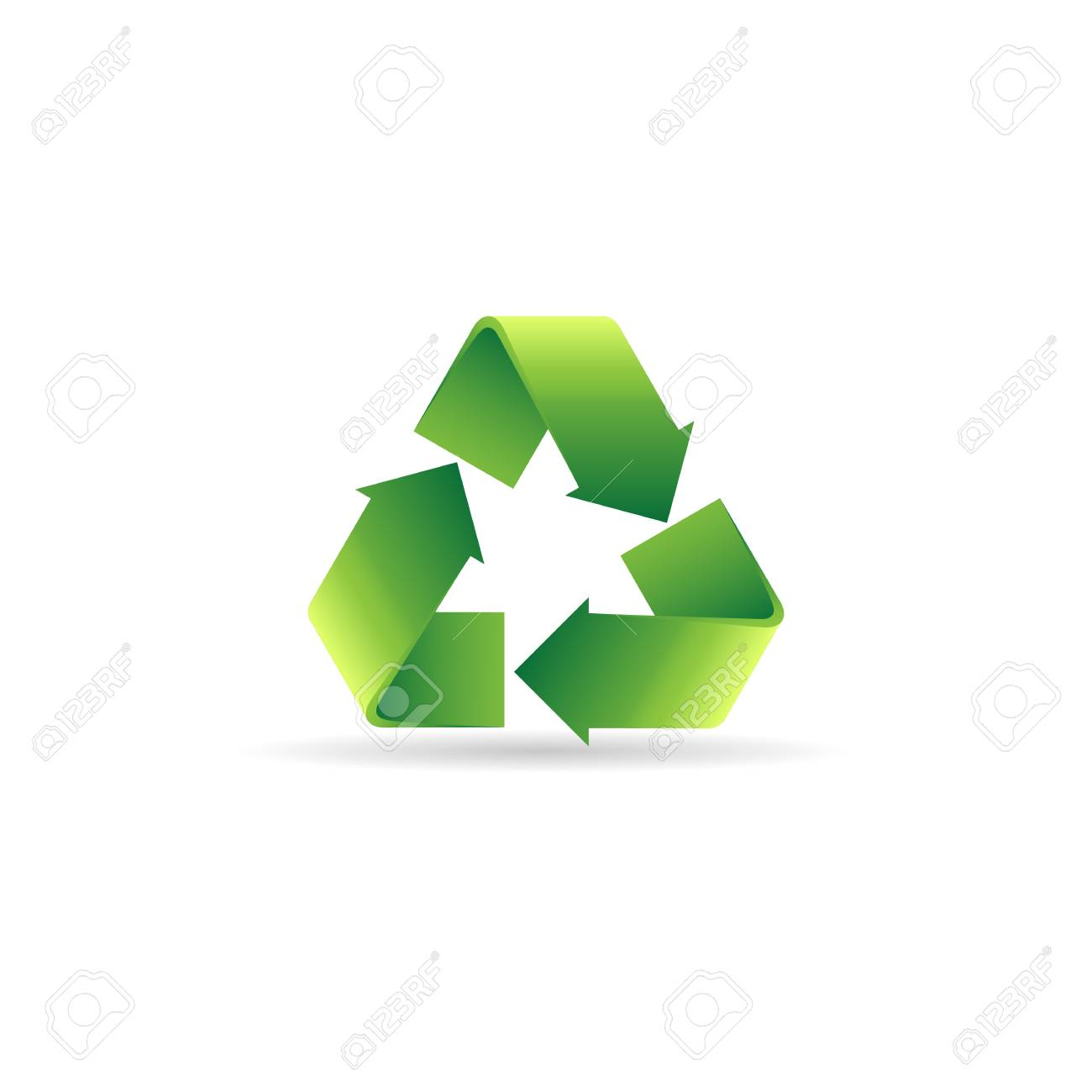Recycle Symbol Icon In Color Environment Recyclable Go Green