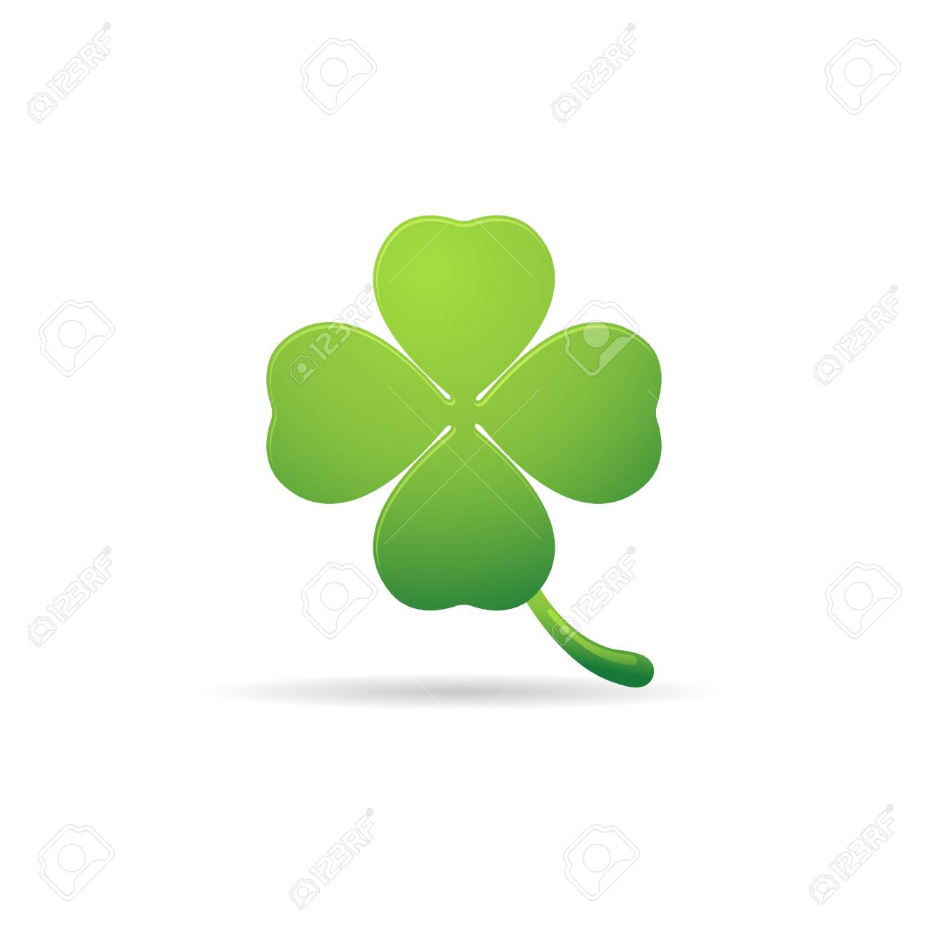 clover icon in color nature plant green stock vector 71633449 - Clover Color