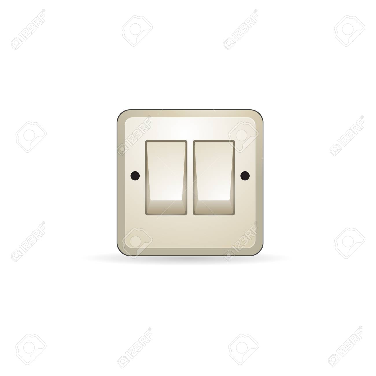 Electrical Switch Icon In Color On Off Button Light Lamp