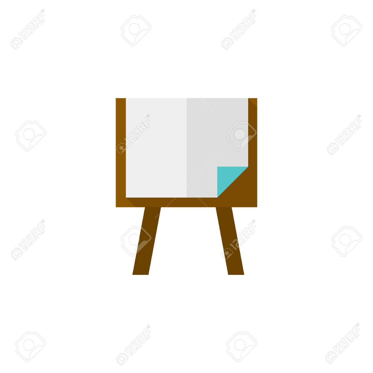 6df3bac985da9 Painting Stand Icon In Flat Color Style. Royalty Free Cliparts ...