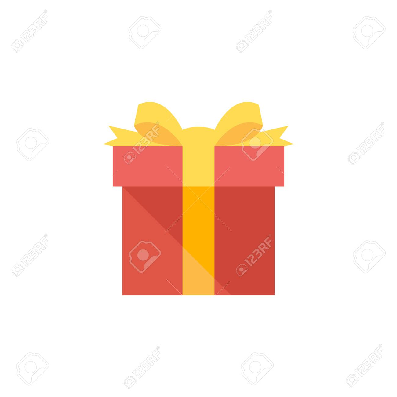 Gift box icon in flat color style holiday christmas birthday gift box icon in flat color style holiday christmas birthday party present surprise stock vector negle Gallery