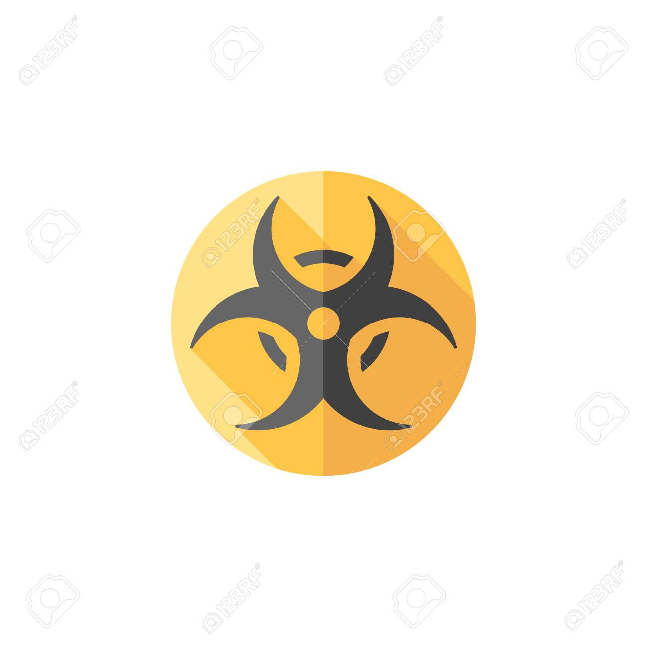 Biohazard symbol icon in flat color style science technology biohazard symbol icon in flat color style science technology biology environment hazard danger stock vector biocorpaavc Images