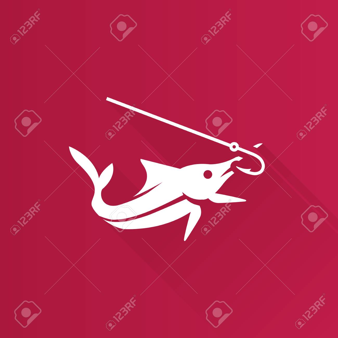 Fish Icon In Metro User Interface Color Style. Sport Fishing ...