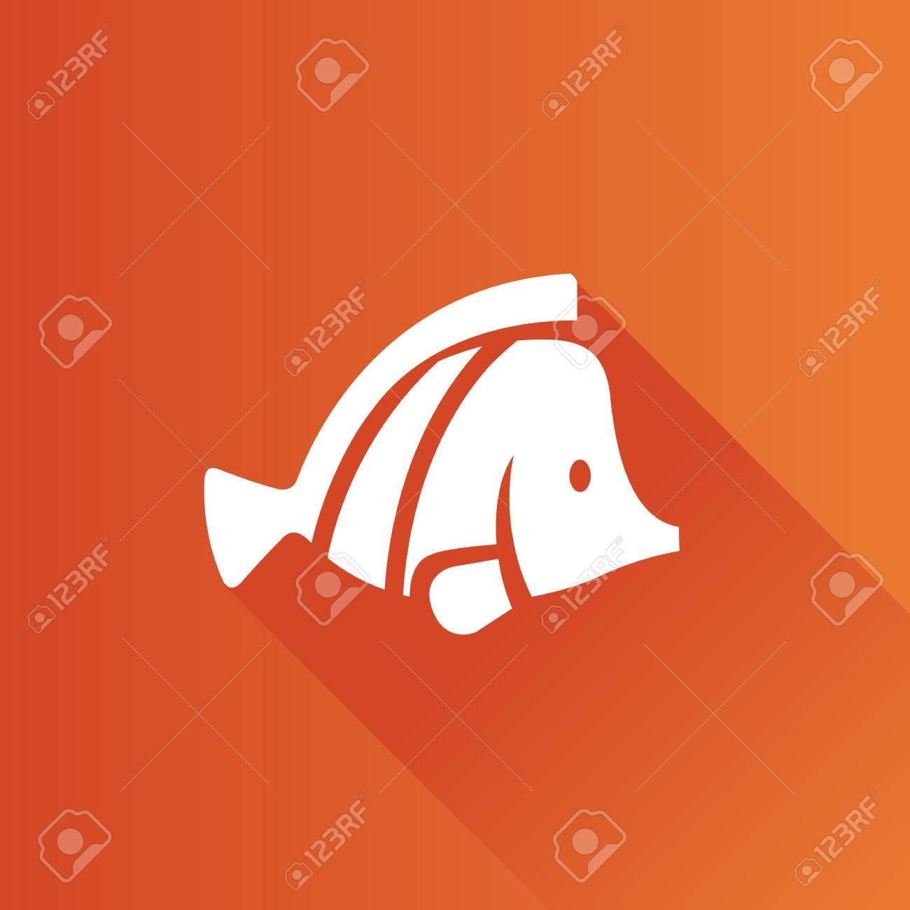 Fish Icon In Metro User Interface Color Style. Sea Animal Pet ...