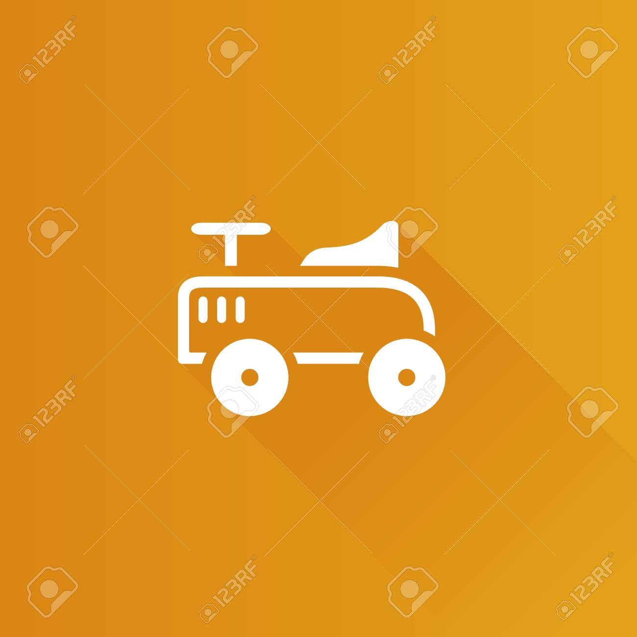 Toy Car Icon In Metro User Interface Color Style Kids Children
