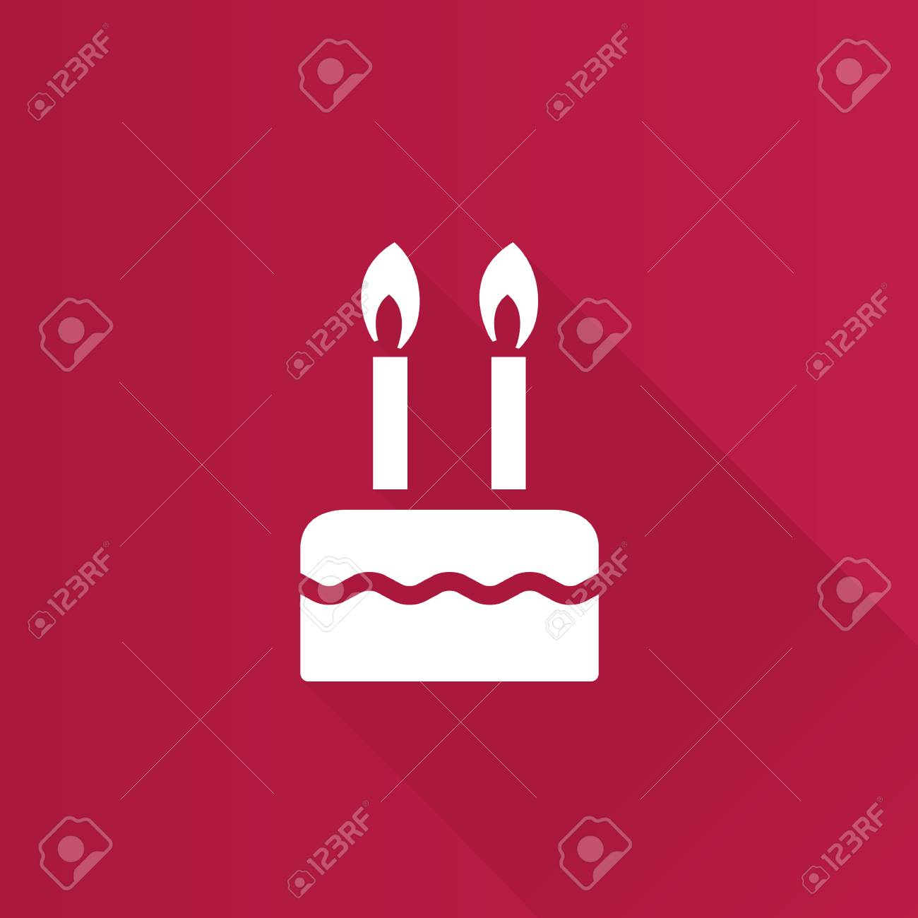 Birthday Cake Icon In Metro User Interface Color Style Food
