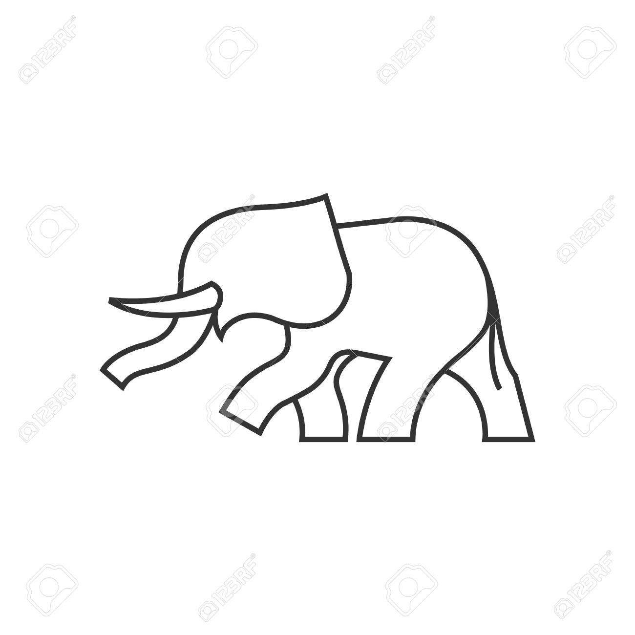 Abstract elephant outline