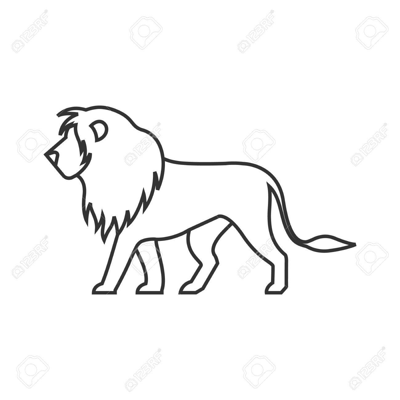 Lion Icon In Thin Outline Style Silhouette Logo Mammal Carnivore Royalty Free Cliparts Vectors And Stock Illustration Image 72639129 Download lion silhouette stock vectors. lion icon in thin outline style silhouette logo mammal carnivore